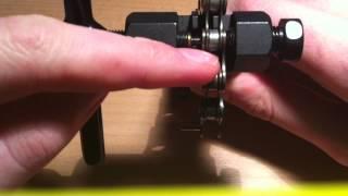 Fahrradkette kürzen - Kettennieter / Kettendrücker für Kette verwenden