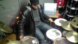 funkflash schmoyoho winning a song by charlie sheen drum cover