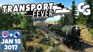 Transport Fever Gameplay - VOD - 2017-01-18 - Roundabouts, Finally!