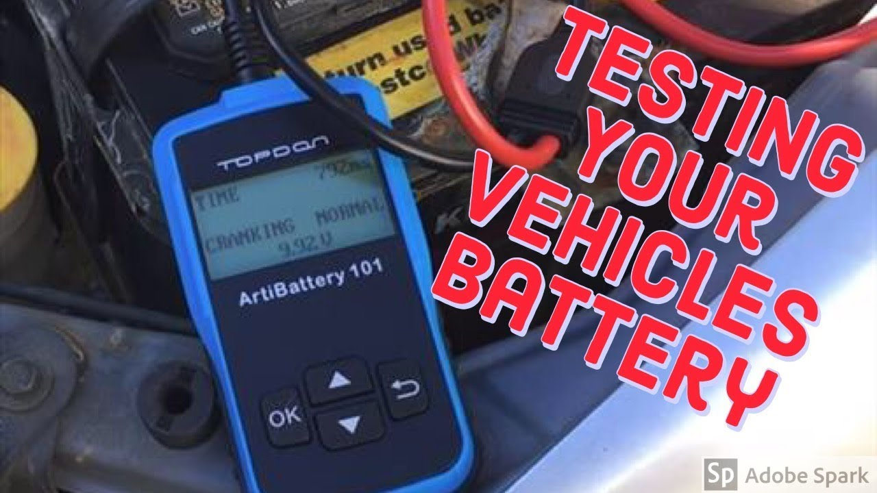 Testing Your Car Battery Topdon Artibattery 101