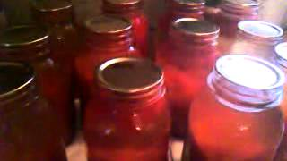 canning up tomato juice  7 13 12