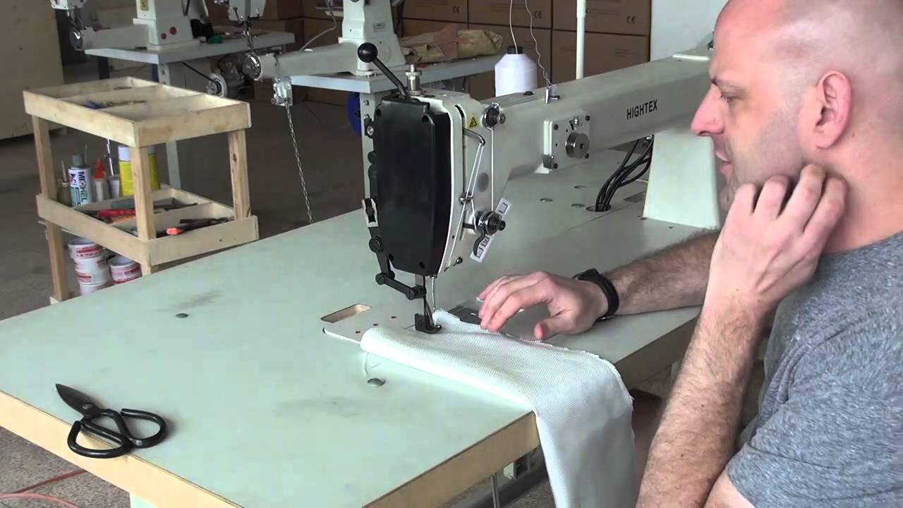 Máquina de coser brazo largo para carpas y tiendas de