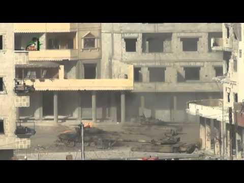 Сирия, танк Т-72 пожар БК