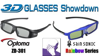 3D Glasses Review: Optoma ZD-301 vs SainSonic Rainbow Series 915