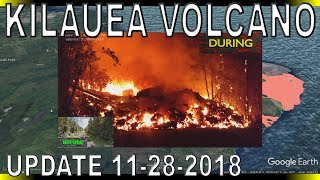 NEWS UPDATE Hawaii Kilauea Volcano Eruption Lava Report for 11/28/2018