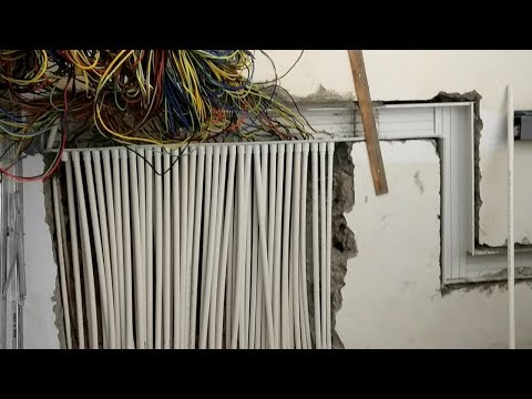 PVC Conduit  and trunking installation practical work