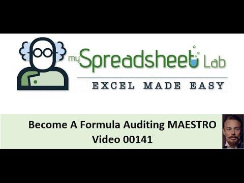 00141 Formula Auditing Maestro