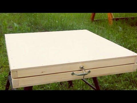 Как сделать походный столик своими руками