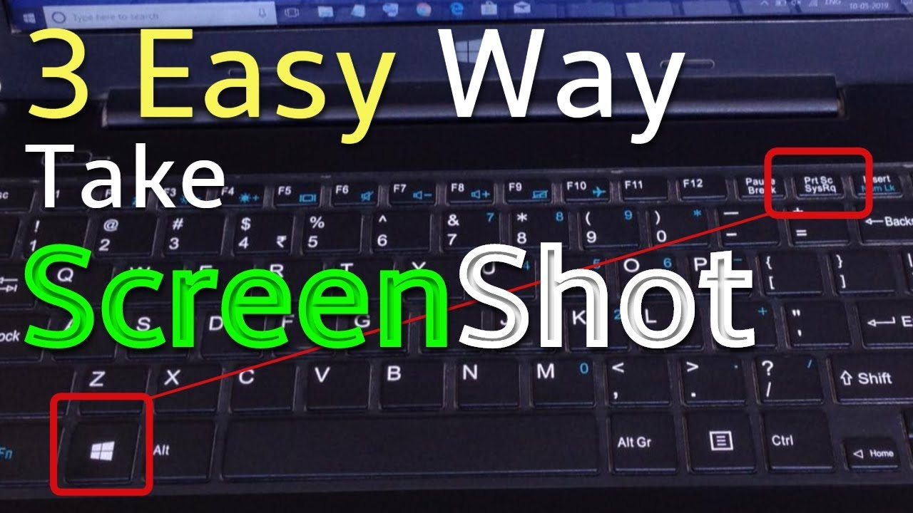 How To Take A Screenshot On A Pc Or Laptop Any Windows 2020 Youtube
