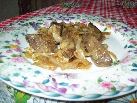 пошагово свиная печень с рецепт фото
