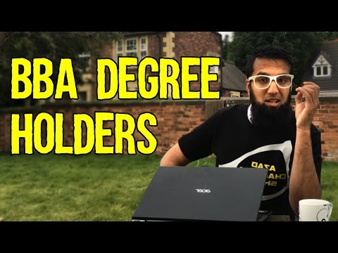 BBA Degree Holders (Advice)