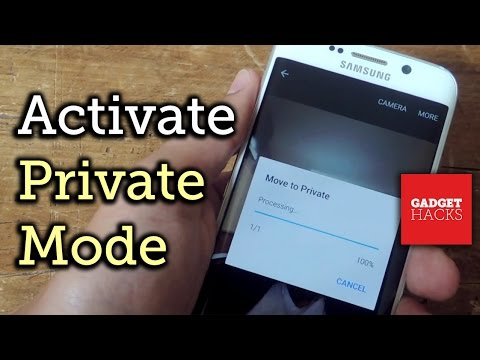 Use Private Mode on the Galaxy S6 to Secure Pictures, Videos, & More [How-To] from YouTube · Duration:  3 minutes 6 seconds