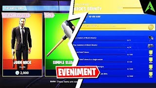 The new Skin * JOHN WICK * and * WICK's BOUNTY * Event in Fortnite!