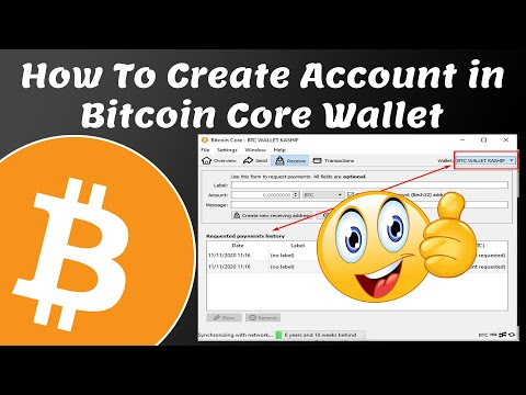 How To Create Account In Bitcoin Core Wallet | Bitcoin Core Wallet