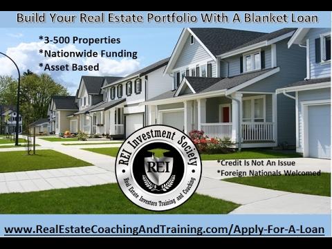 Build Your Real Estate Portfolio With Blanket Loans www.RealEstateTrainingAndCoaching.com