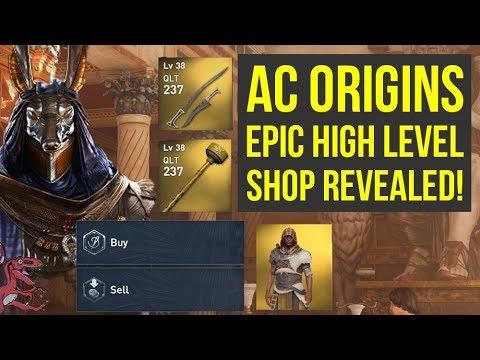 Assassin\u0027s Creed Origins EPIC HIGH LEVEL SHOP REVEALED (AC Origins