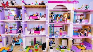 Two Parties in Two Houses - Lego Friends Story for kids - New CUSTOM Lego Friends house