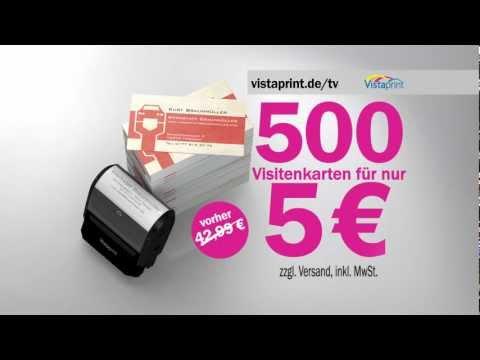 Vistaprint Werbespot Für Visitenkarten 09 2012 2 Youtube