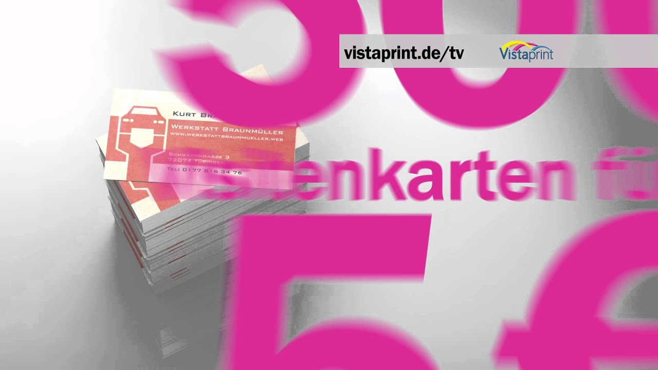 Vistaprint Werbespot Für Visitenkarten 09 2012 2