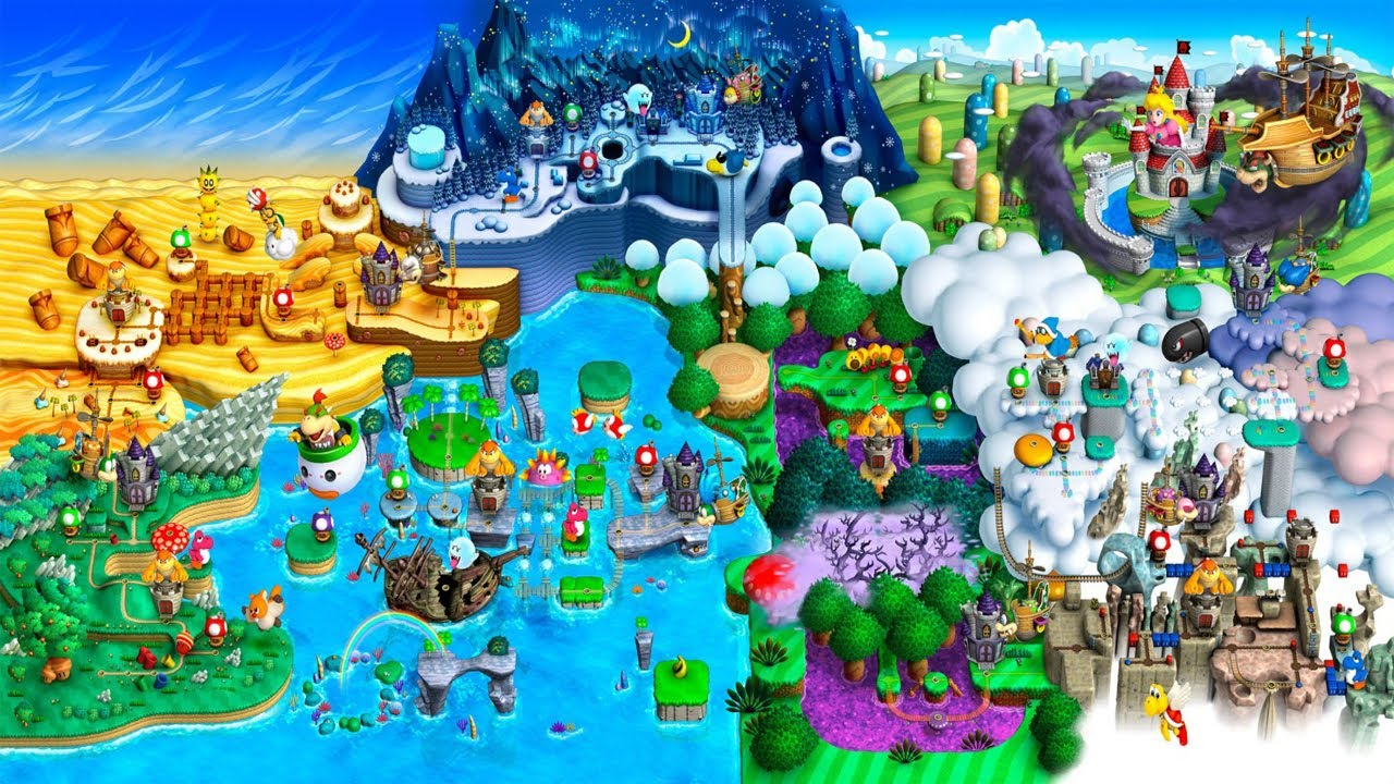 Let S Play New Super Mario Bros U World Map Youtube