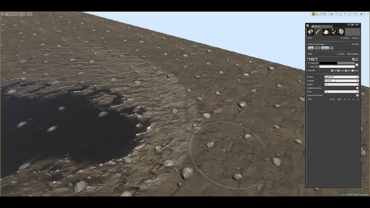 Mud Shader Unreal Engine 4 - WIP1