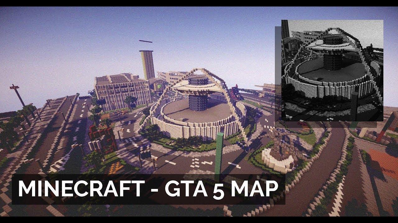 Minecraft карта gta 5 + скачать youtube.