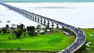 #شاهد   إفتتاح أطول جسر في #الهند بطول 9.15 كيلومترات
