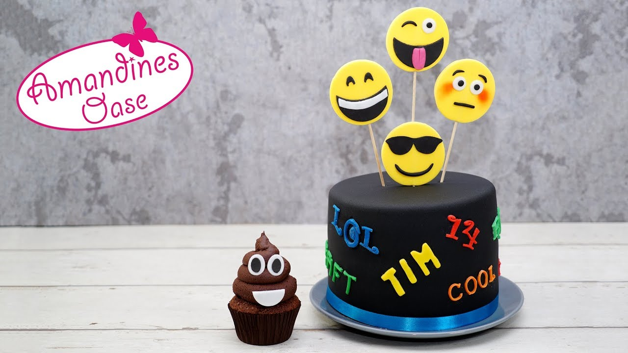 Emoji Torte Smiley Fondant Cake Coole Geburtstagstorte