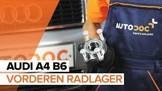Installation Radlagersatz hinten + vorne AUDI A4: Video-Handbuch
