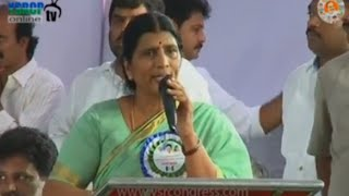 YSRCP Leader Lakshmi Parvathi emotional Speech at YSRCP Executive Meeting - 14th June 2016