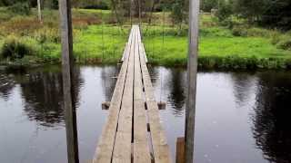 787 Four Long Wooden Planks Used To Make Hanging Bridge