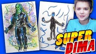 Как рисовать Супергероя: Рисуем Электро (Marvel Comics) Electro(Проведем маленький урок рисования для детей. Рисуем и обсуждаем Супергероев и Суперзлодеев. Рисуем Электро..., 2016-05-12T09:54:46.000Z)