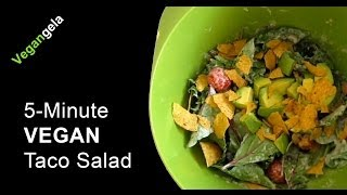 5-minute Vegan Taco Salad Recipe