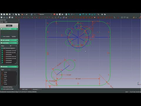 FreeCAD Sketcher For Beginners |JOKO ENGINEERING|