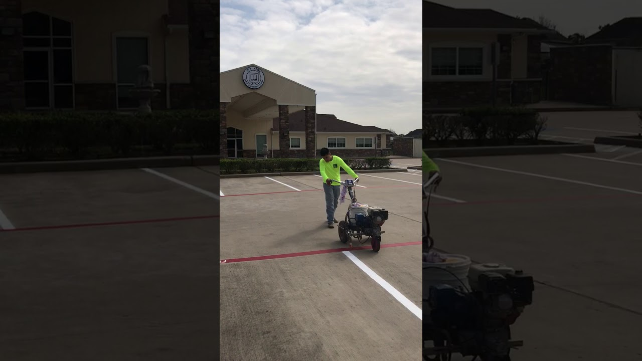 Striping At Ivy Kids Early Learning Center Youtube