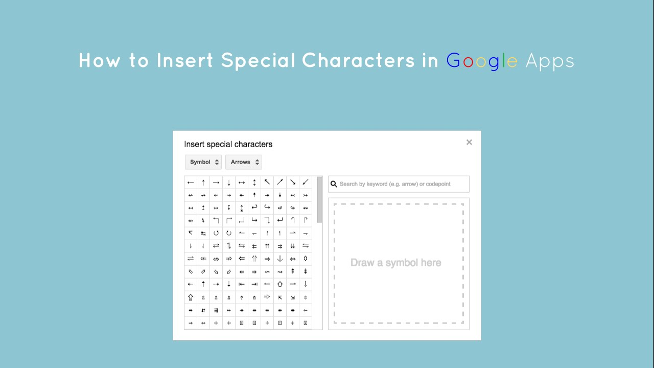 How To Insert Special Characters In Google Docs Slides And