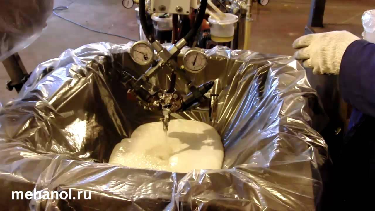 Самая удобная установка для напыления ППУ. Весит 70 кг, работает .