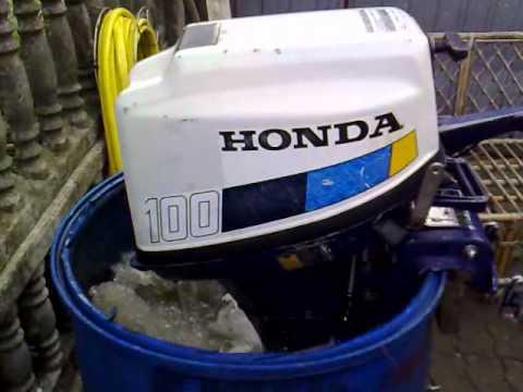 Honda 10 hp outboard motor 1982r. four stroke ( 4-SUW ) - YouTube