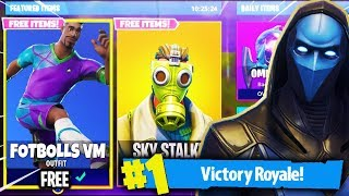FOOTBALL SKINS & OTHER SICK SKINS FOR FORTNITE!?! -Fortnite Battle Royale in English