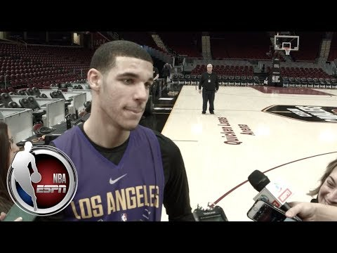 Lonzo Ball on whether he's nervous playing LeBron James, LiAngelo & LaMelo going to Lithuania | ESPN