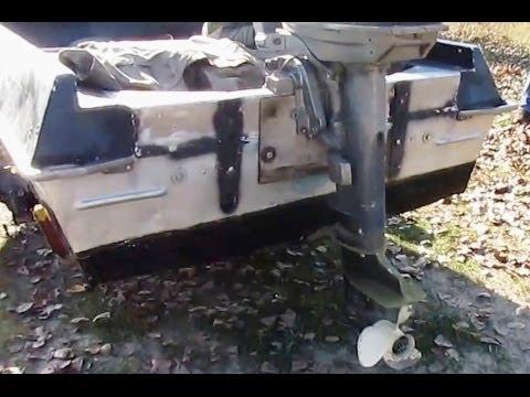 Как поднять транец в лодке Крым (усиленный транец)