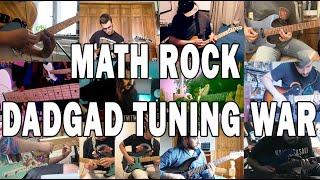 Math Rock DADGAD Tuning War    21 Guitarists amp 1 Bassist   Tuning Wars Episode Three