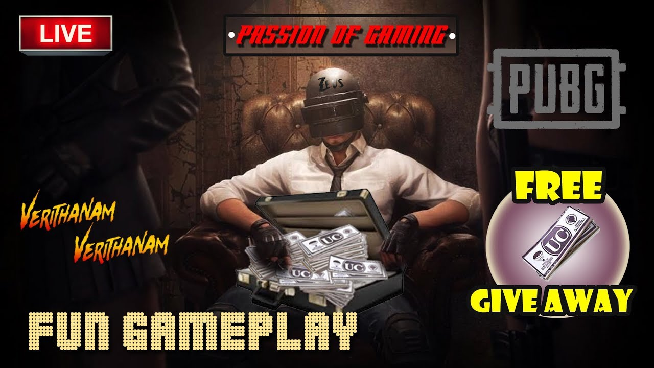 Pubg Mobile Free Uc Giveaway | SRB Zeus Live - Verithanam Gameplay On Tamil With SRB Members