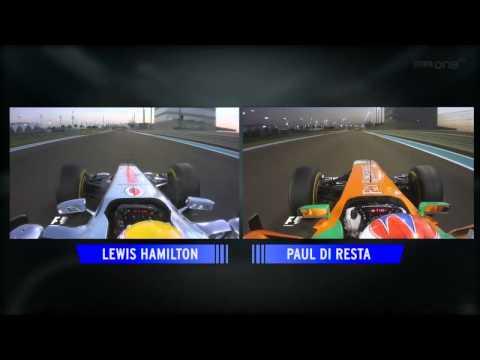 F1 2011 Abu Dhabi - Lewis Hamilton and Paul di Resta Q2 Lap comparison