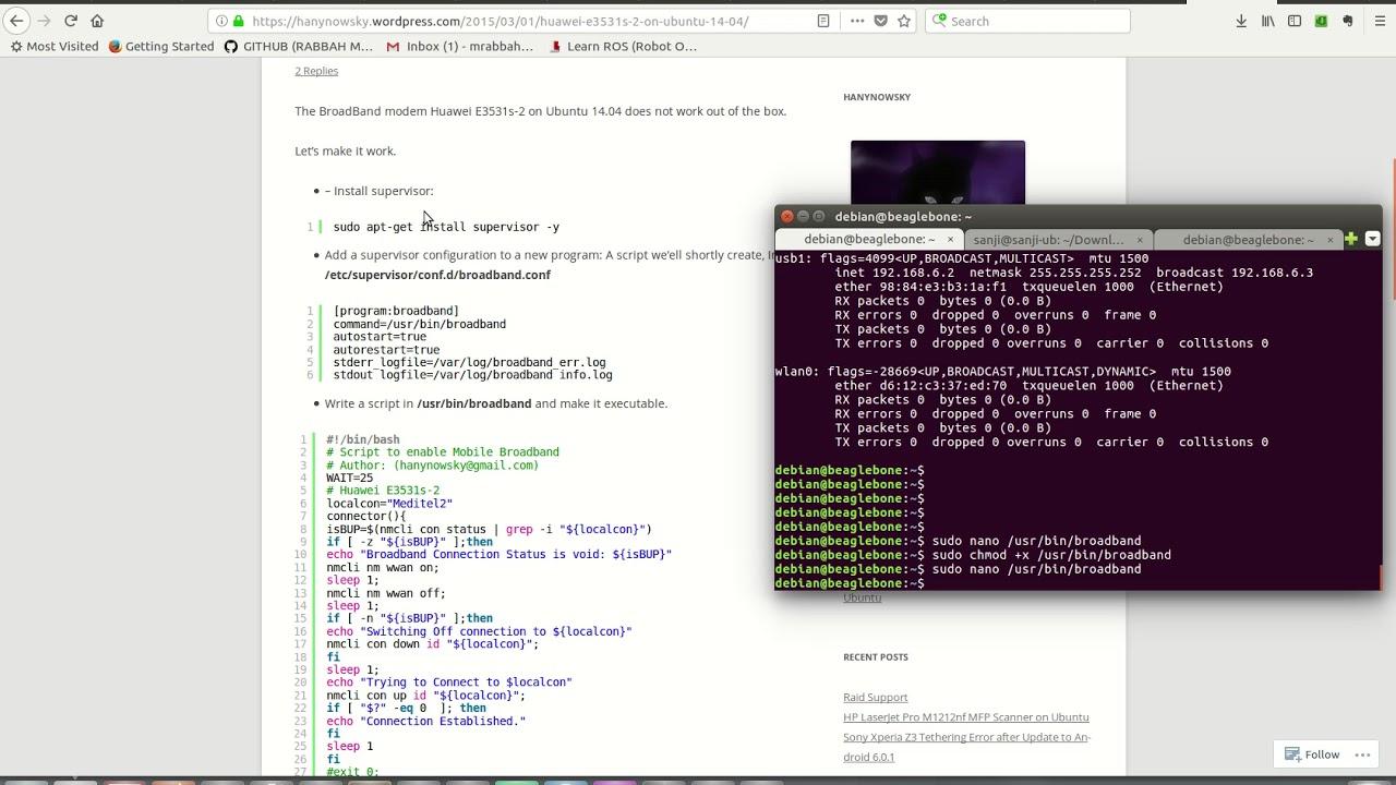 Configure 3g Modem BeagleBone