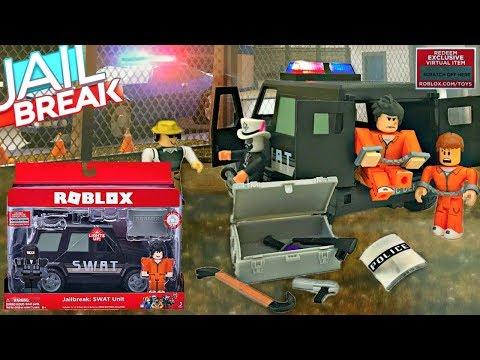 Roblox Toys Jailbreak Swat Unit Series 4 Roblox Jailbreak Swat Car Code Items Unboxing Gaming Jailbreak Toy Car Collectible Youtube