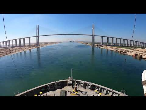 Suez Canal Transit from Red sea to Mediterranean sea #suez canal #suez #suez transit