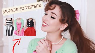 How To Dress Vintage-Inspired Using Modern Clothing!