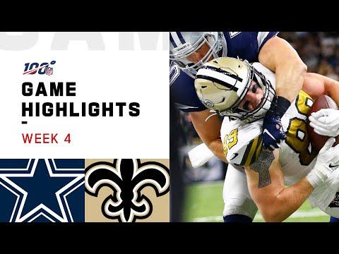 Cowboys vs. Saints Week 4 Highlights | NFL 2019