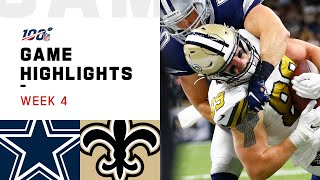 Cowboys vs. Saints Week 4 Highlights | NFL 2019